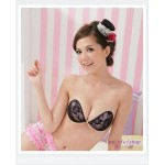 BACKLESS STRAPLESS ADHESIVE FLOWER LACE NUBRA