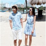 Value burst models couple suit male T + skirts (two) (white)