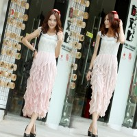 Was thin models Korean Lace Slim Princess Dress (5 color)
